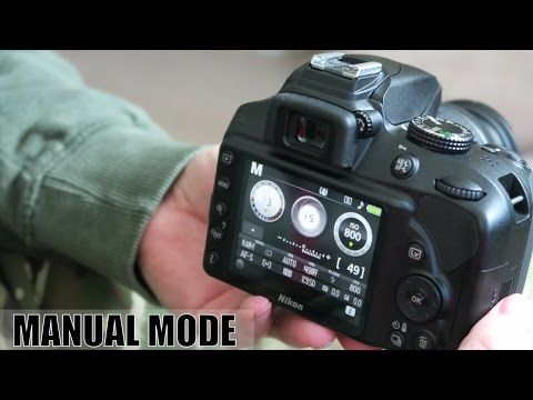 how to use manual mode on a nikon d3400 nikon tutorials rh pinterest com using manual mode on nikon d3400 Nikon D3100 Manual User Guide