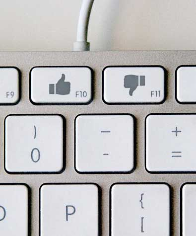 'Like or dislike' keyboard concept art.