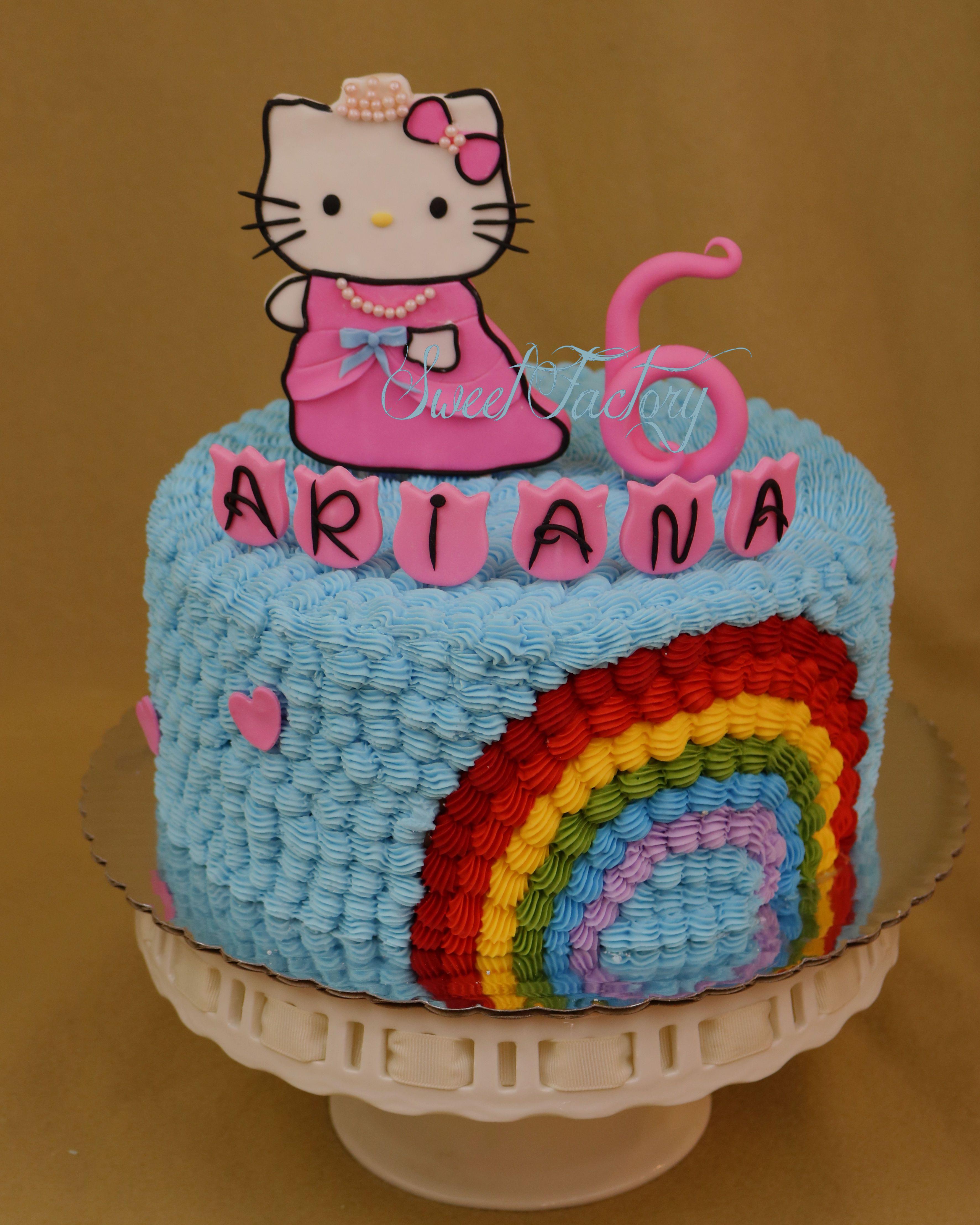 Hello Kitty Princess Cake / Rainbow cake / Hello Kitty ...