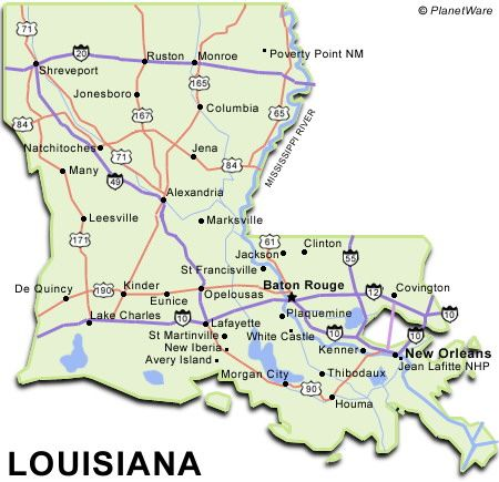 Louisiana States I Have Visited Pinterest Louisiana History - Lousiana map