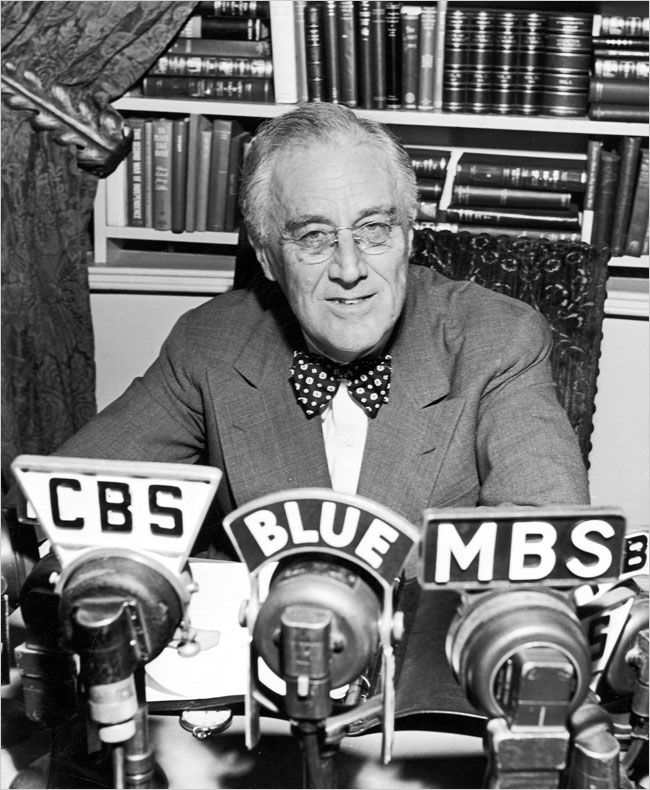 Image result for president fdr's first fireside chat