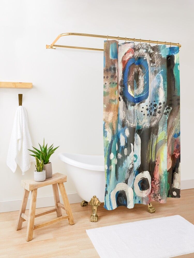 Waterworks Abstract Ooak You Are A One Of A Kind Shower Curtain