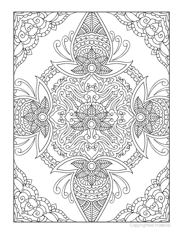 Creative Haven Mehndi Designs Coloring Book Traditional Henna Body