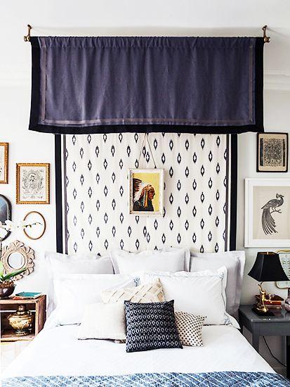 5 Bedroom D Casas azules, Antigua y Pisos - cortinas azules