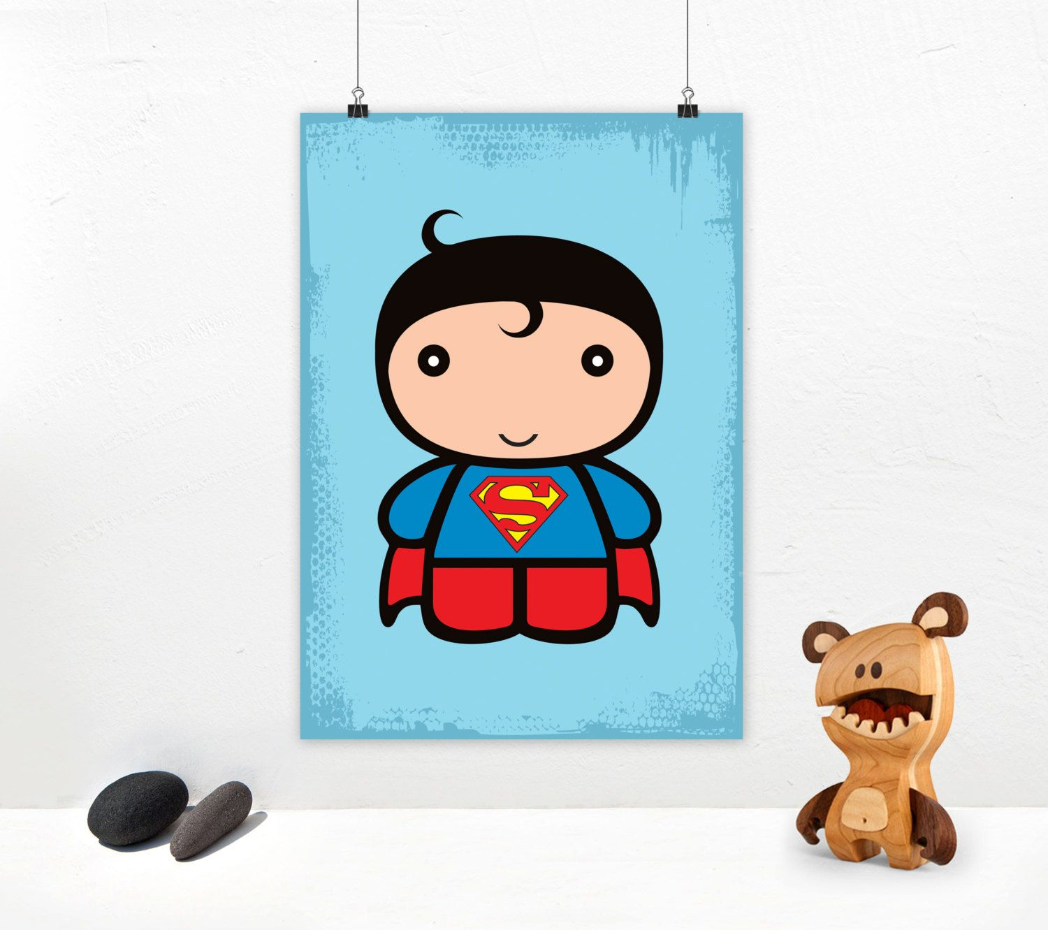 superman baby art print superhero illustration with cute superman baby poster design for instant download size a4 a3 by graphiccorner on etsy