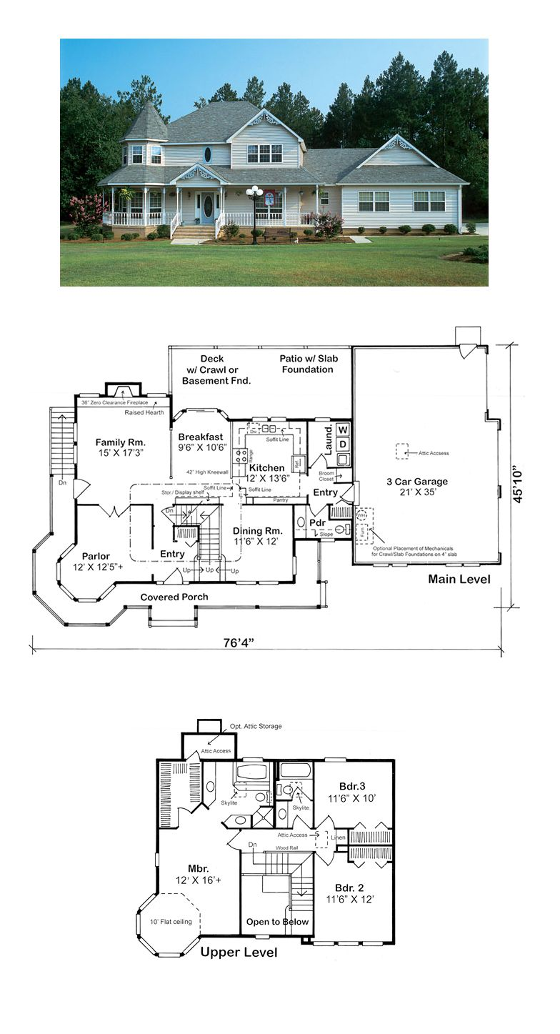 Victorian Style Cool House Plan Id Chp 29855 Total Living Area 2281 Sq Ft 3 Bedr Victorian House Plans Architectural Design House Plans House Blueprints