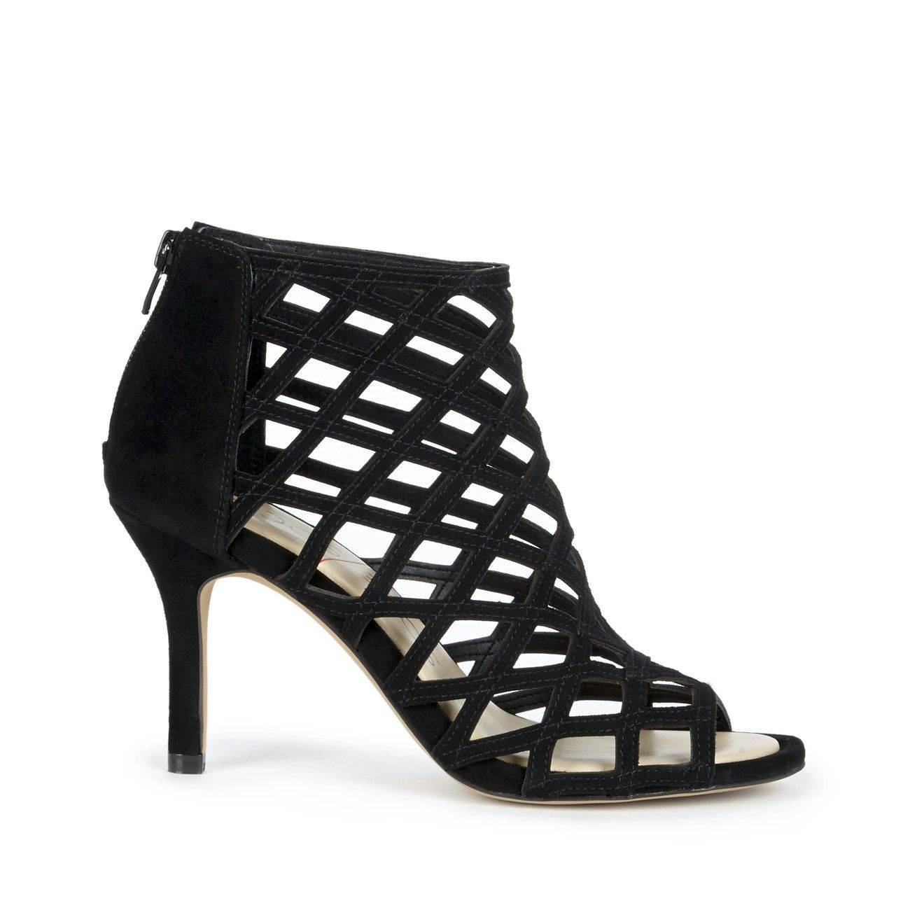 Black Mid Society Portia Heel Sole HeelsSandalsShoes QrEodxeCBW