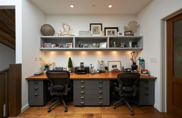15 Small Home Office Designs Saving Energy Space And Creating Great Work Areas For Two Home Office Design Shared Home Offices Home Office Furniture
