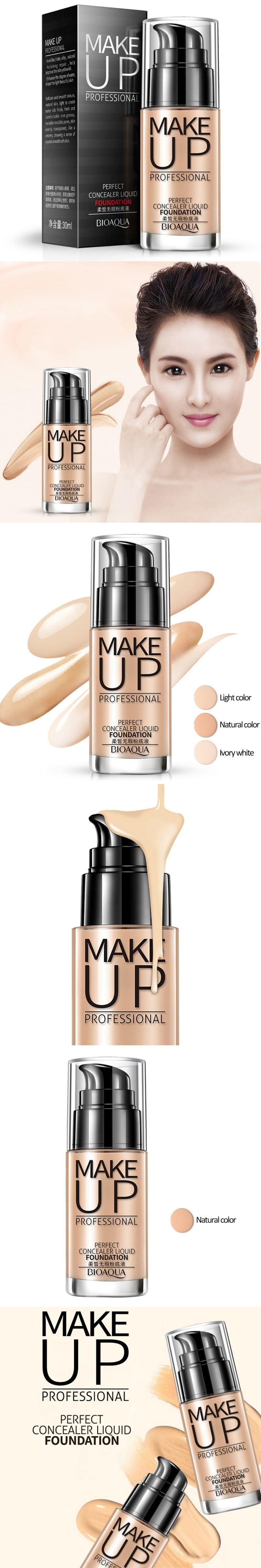 Natural Women Makeup Face Bb Cream Foundation Concealer Shake Bioaqua Light Skin Whitening Cover