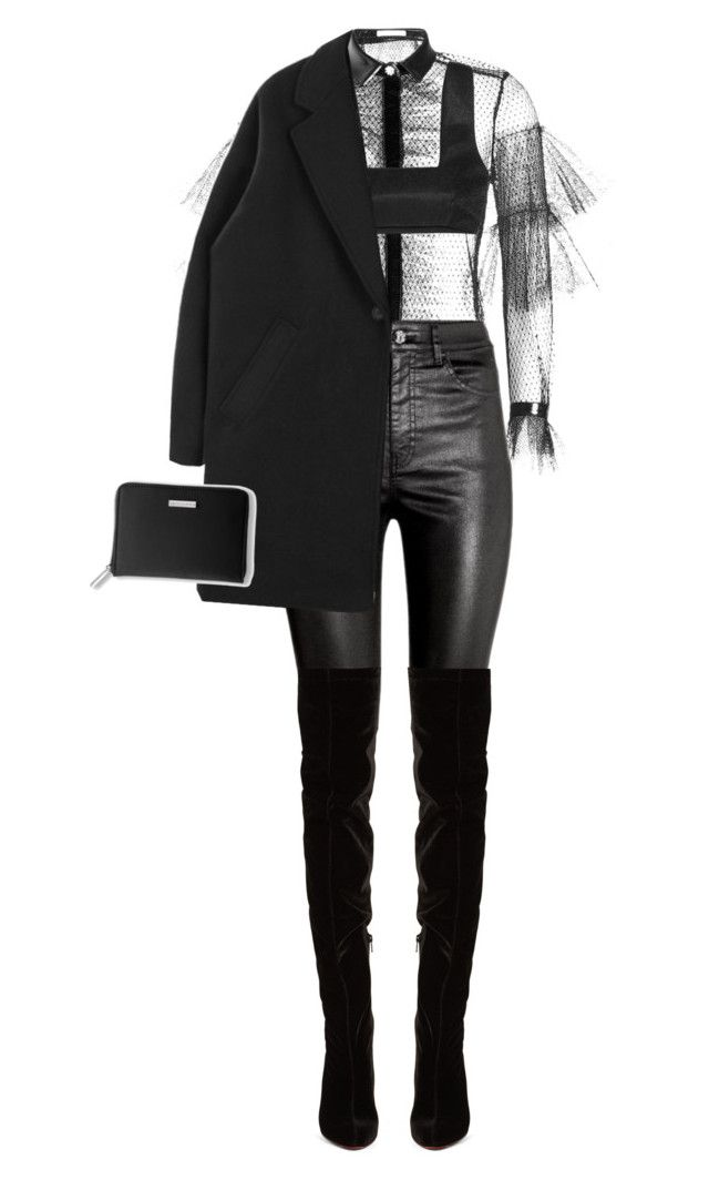 """""""Layers"""" by cherieaustin ❤ liked on Polyvore featuring Philosophy di Lorenzo Serafini, H&M, Georgia Alice, Christian Louboutin and Bare Escentuals"""