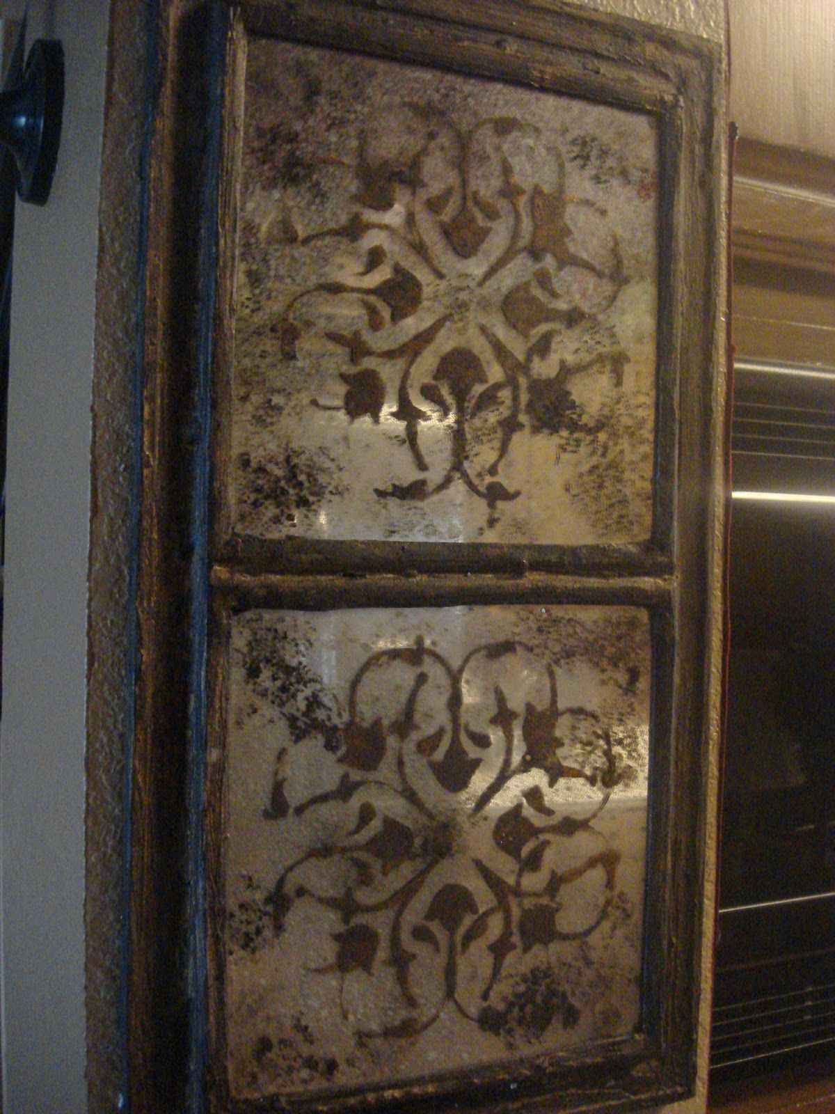 I Want To Try This Technique With 12x12 Mirror Tiles Antique Mirror Diy Dollar Store Mirror Moroccan Mirror