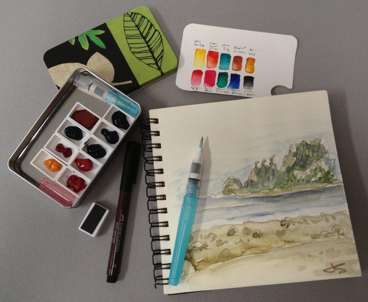 Daniel Smith Staff Rave Jodi Steele S Watercolor Travel Kit For