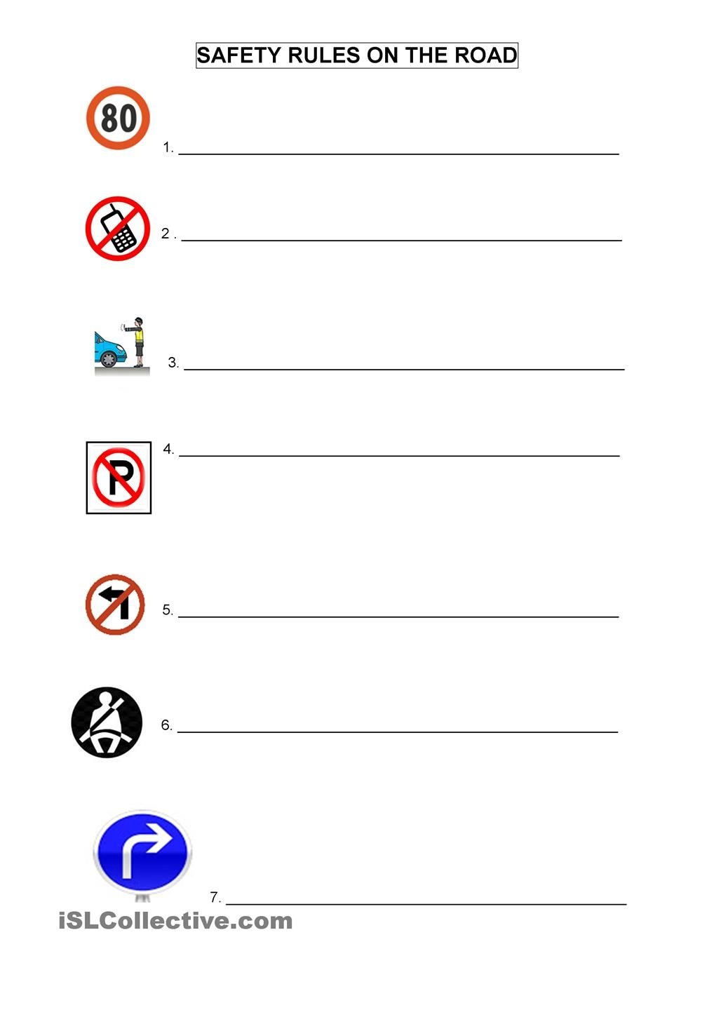 worksheet Road Safety Worksheets For Kindergarten road safety pinterest worksheets and worksheet free esl printable made by teachers