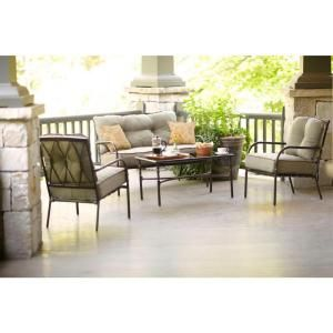Martha Stewart Living Pacifica Collection 4 Piece Patio Chat Set 1 10 515 CSET  At The Home Depot