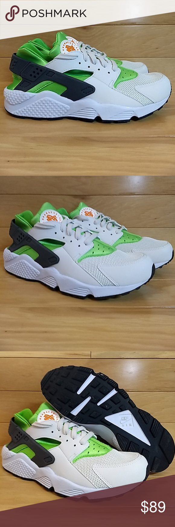 82a9c377fe4e Nike Air Huarache 10.5 Green Orange 318429-304 Item  Nike Air Huarache  Style Code