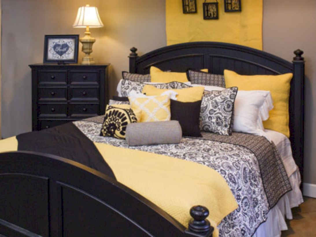 60 Visually Pleasant Yellow And Grey Bedroom Designs Ideas Grey