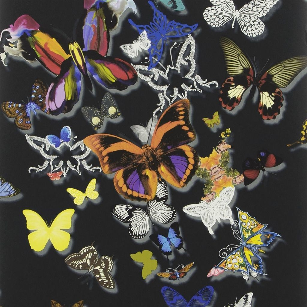butterfly parade oscuro wallpaper Christian Lacroix