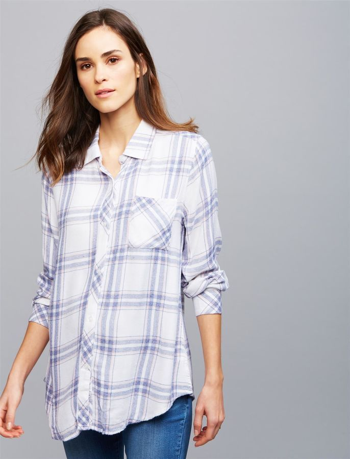 2a0826f60b908 Pea Collection Rails Button Front Maternity Shirt | Products ...