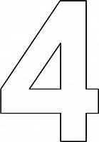 cijfer 4 kleurplaat kleurplaten activiteiten schrijven