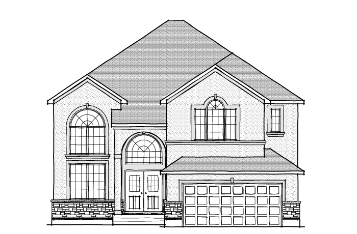 Front elevation cardel homes homes cardel homes ottawa front elevation cardel homes malvernweather Gallery