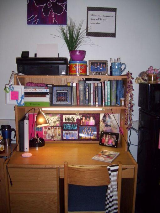 Add another shelf on top of desk  Dorm Ideas  Dorm