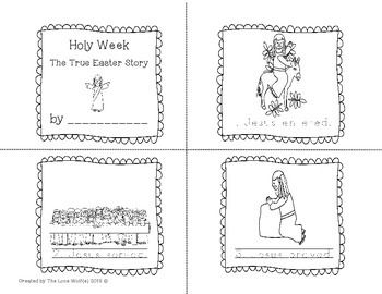 Holy Week Coloring Pages And Mini Book The True Easter Story Easter Story Holy Week Coloring Pages