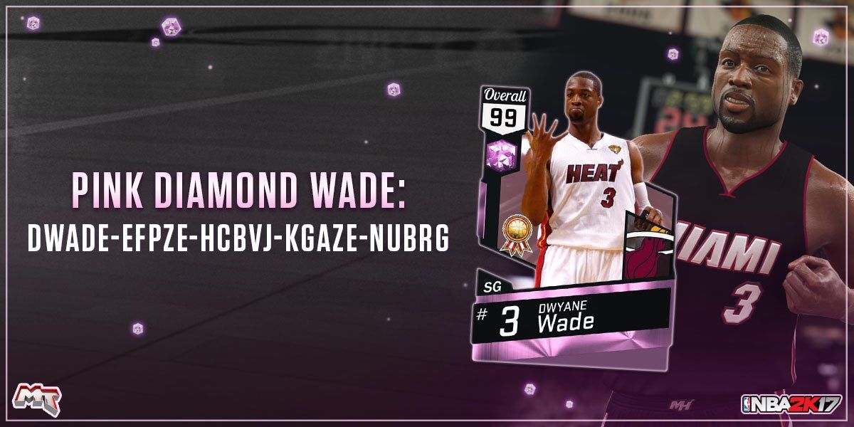 a19611bd6573f NBA 2K17 MyTEAM twitter account revealed new Pink Diamond code which allows  players get Pink Wade with the code