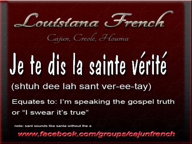 Cajun and creole language