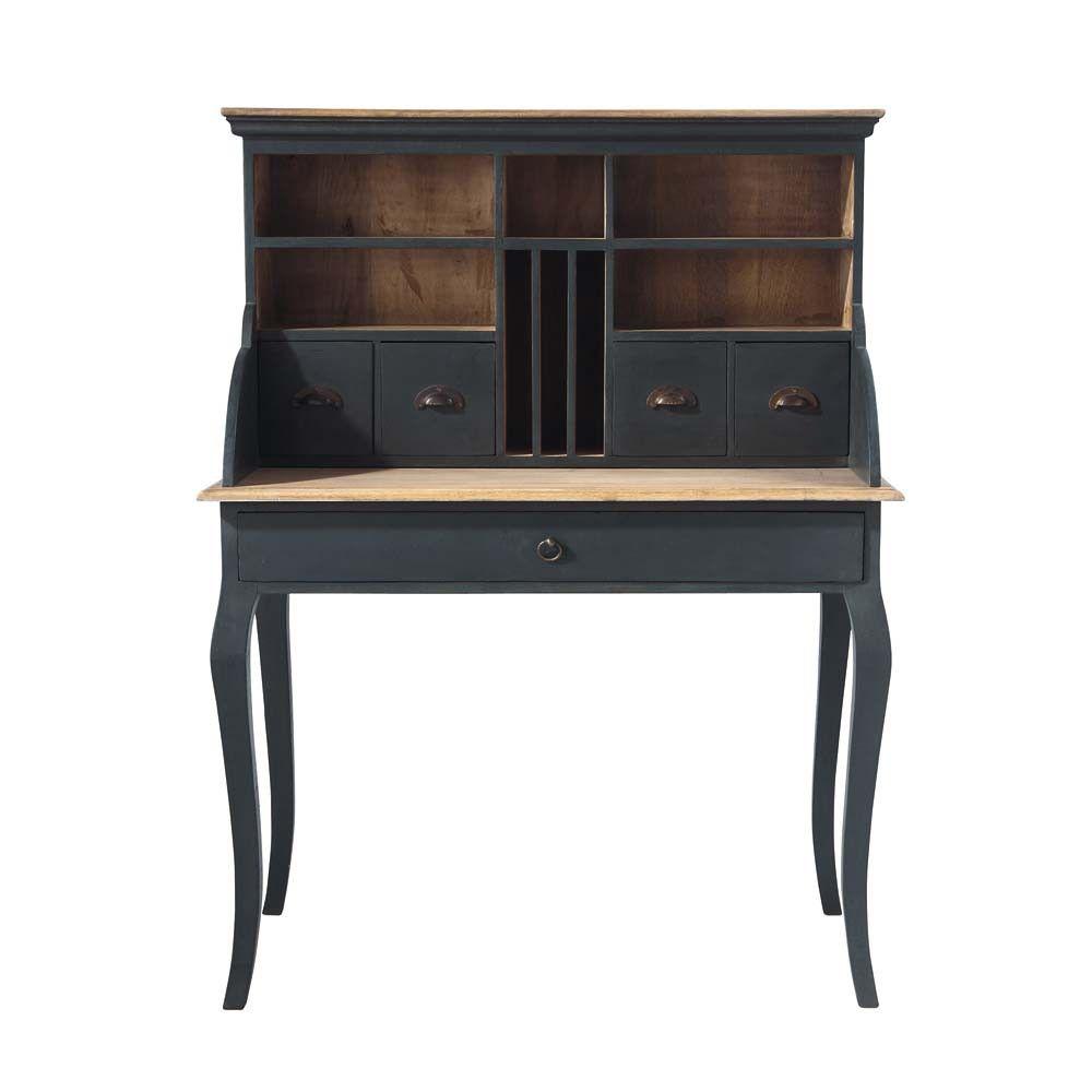 Escritorio secreter de mango negro en 2018 housses pinterest escritorios madera y negro - Mueble secreter ...
