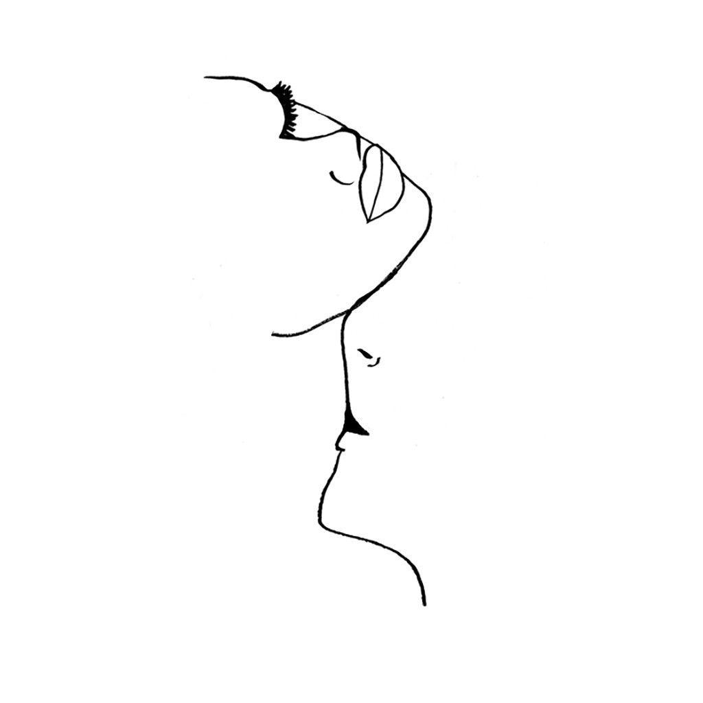 Kiss 5 lips sketch neck drawing kissing drawing