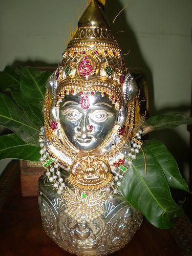 Varalakshmi Kalasam01 Sri Vaishnava Sampradaya Silver