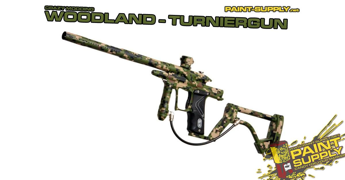 Crazy Modding Woodland Turniergun Gute Arbeit Paintball Und