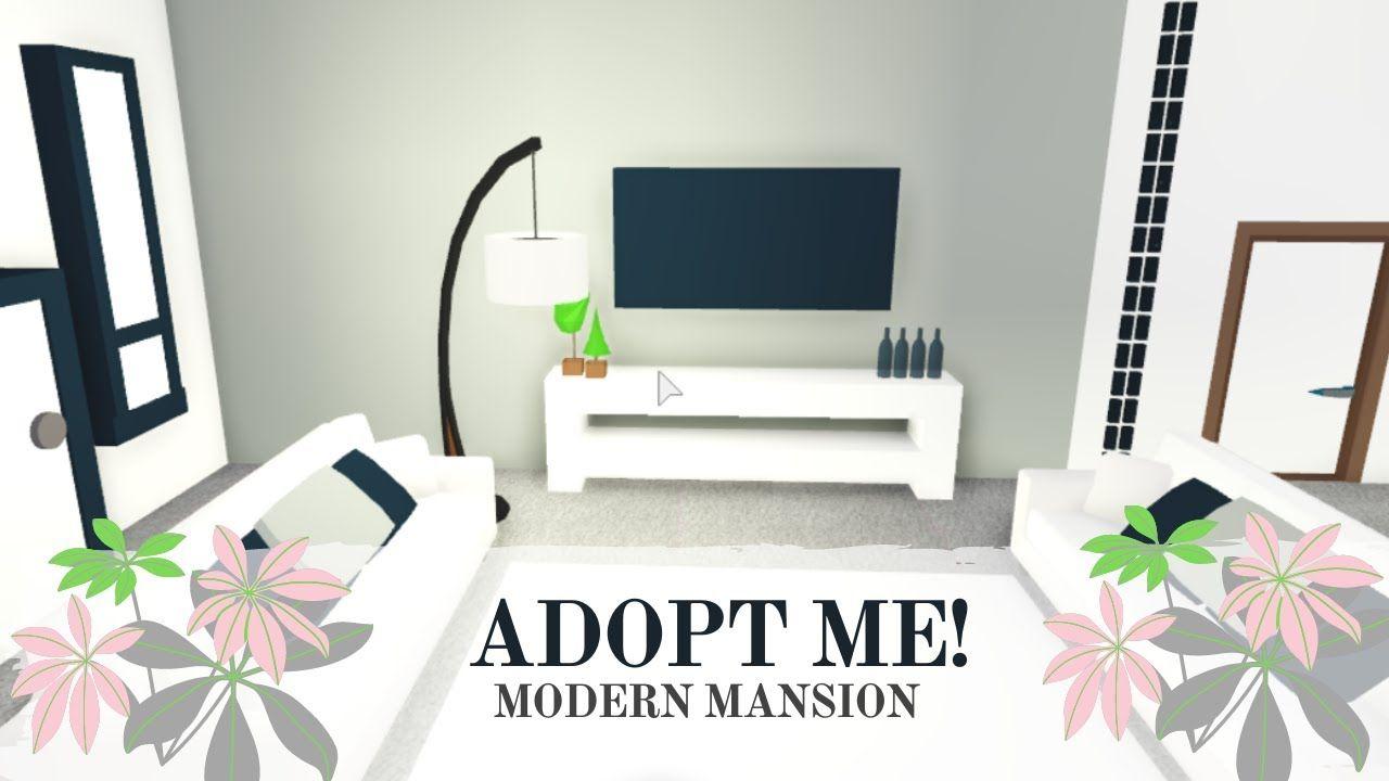 Adopt Me Modern Mansion Speed Build 2 Part Youtube Modern Mansion Cute Room Ideas My Home Design
