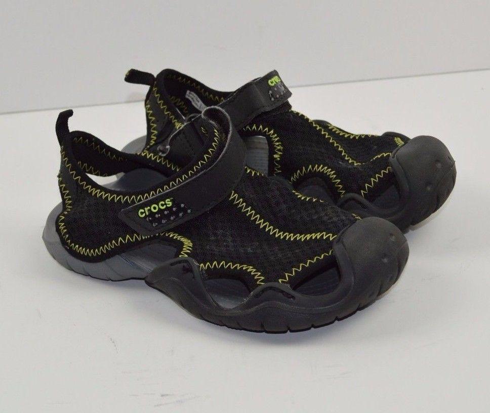 6e84e04df2f271 Crocs Swiftwater Sandal Sandal Waterproof Boys Water Shoes SZ 1 kids  Crocs   WaterShoes