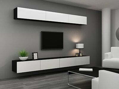 HIGH GLOSS TV CABINET / TV WALL UNIT / TV STAND 'VIVA 13 A' | eBay