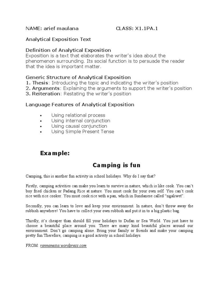descriptive essay on camping