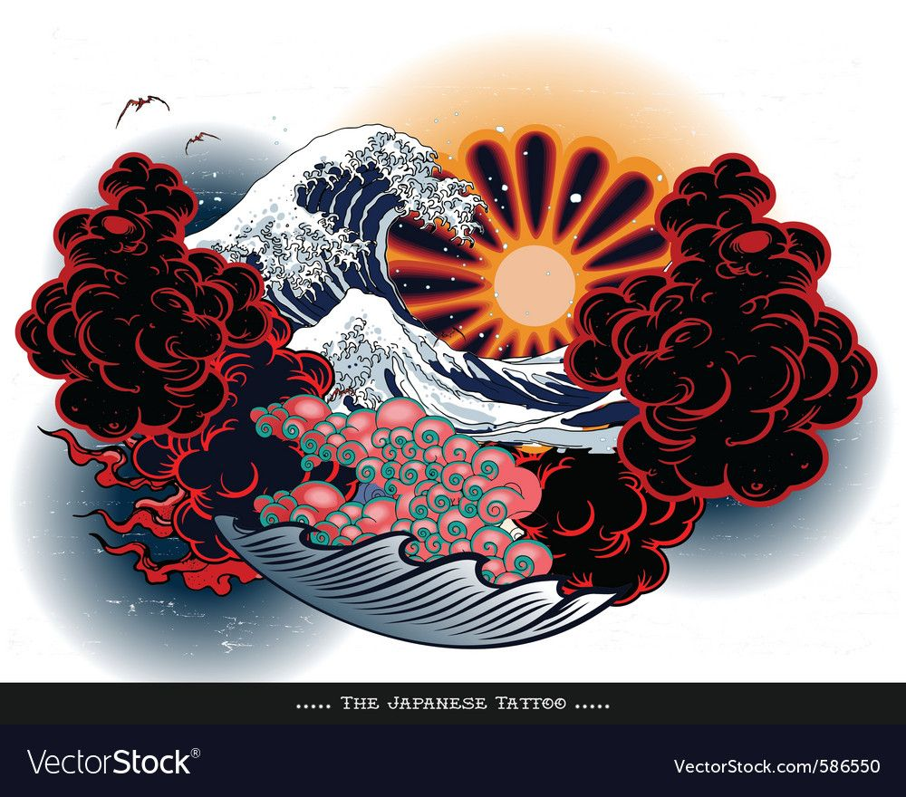 Japanese Tattoo Landscape Download A Free Preview Or High Quality Adobe Illustrator Ai Eps Pdf And High Japanese Tattoo Designs Japanese Tattoo Waves Tattoo