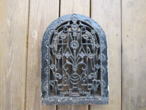 Antique Cast Iron Arch Top Dome Heat Grate Wall Register Old Vintage Antique Cast Iron Antiques