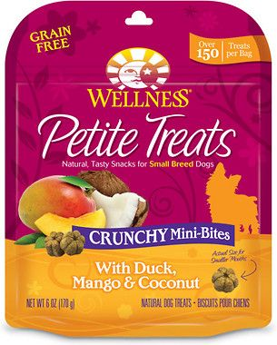 Wellness Grain Free Petite Treats Crunchy Mini Bites With Duck
