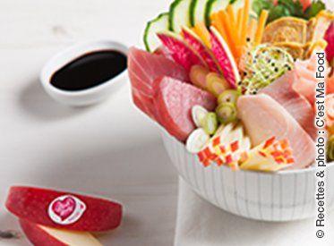 In questo inizio d'anno, concediamoci una tappa gustativa per scoprire una nuova ricetta Pink Lady®. Una composizione fresca e colorata, idele dopo le feste di fine anno.