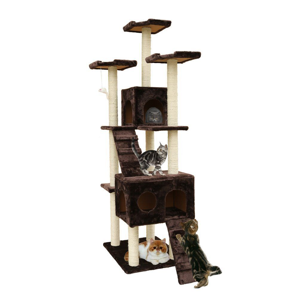 72Inch Cat Tree cat Play Tower Condo by Outdoor Sunshine