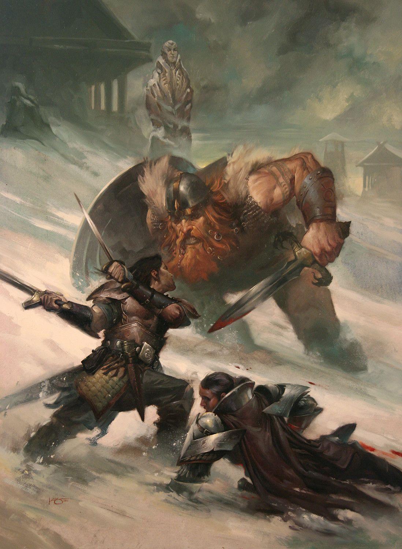 Snow Viking, Lucas Graciano on ArtStation at https://www.artstation.com/artwork/xZvKY