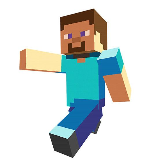 Minecraft Steve Walking Vinyl Wall Decal By Wilsongraphics On Etsy