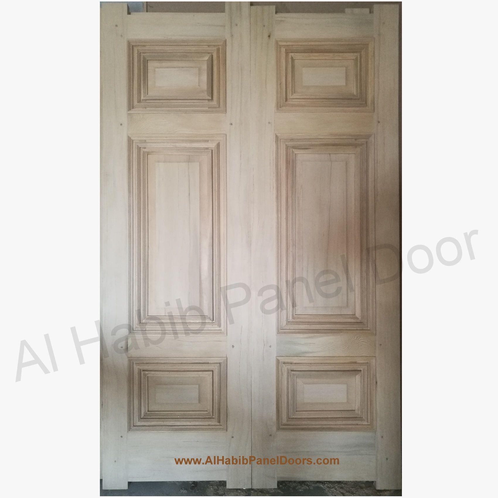 Dayyar Wood Six Panel Main Double Door Hpd575 Main Doors Al