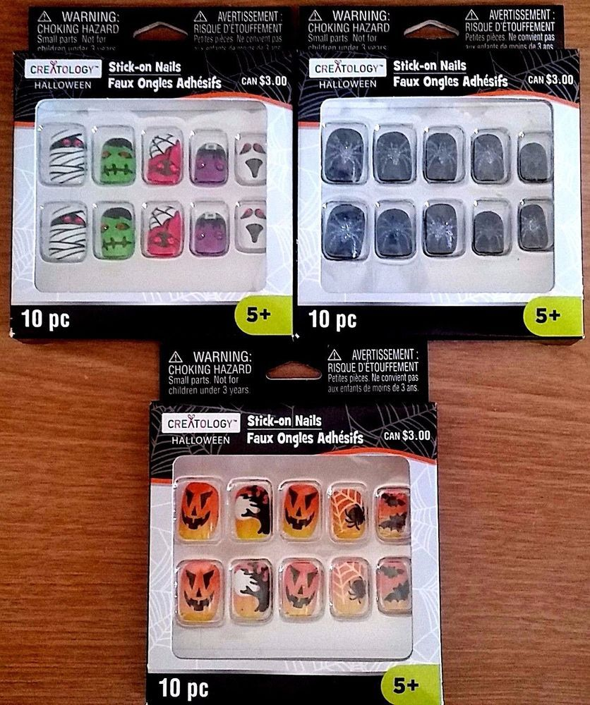 Details about CREATOLOGY HALLOWEEN Girl's Stick-on Nails ...