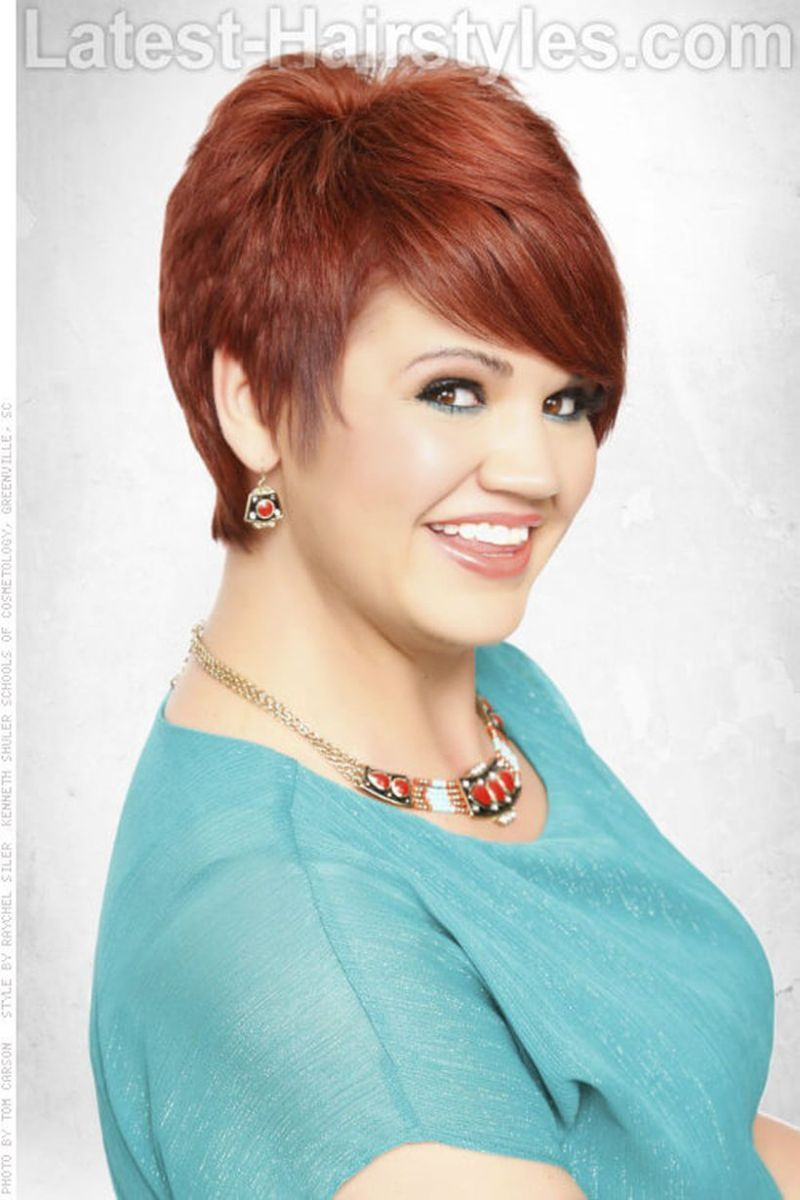 Perfect short pixie haircut hairstyle for plus size short pixie