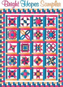 Bright Hopes Sampler Pattern Set At Everything Quilts Sampler Quilts Quilt Patterns Sampler Quilt