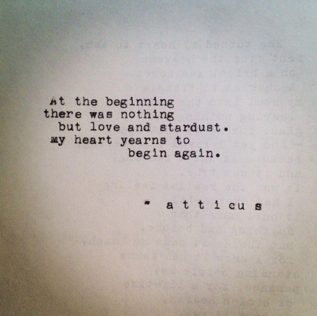 beginning love poems