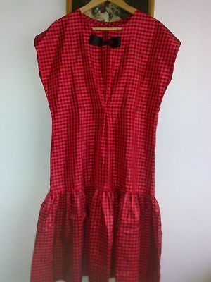 #Vintage #checked #dress size 14 16  60s 70s ,  View more on the LINK: 	http://www.zeppy.io/product/gb/2/182129113035/