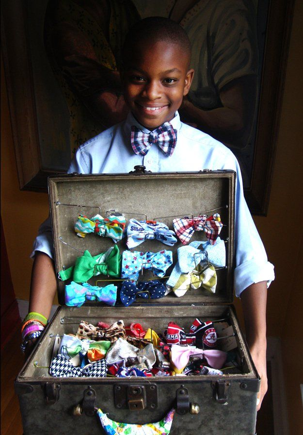 Moziah Bridges of Memphis sews Mo's Bows, featured in